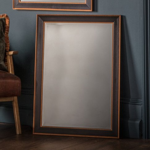 Gallery Direct Daltry Mirror Black Rectangle