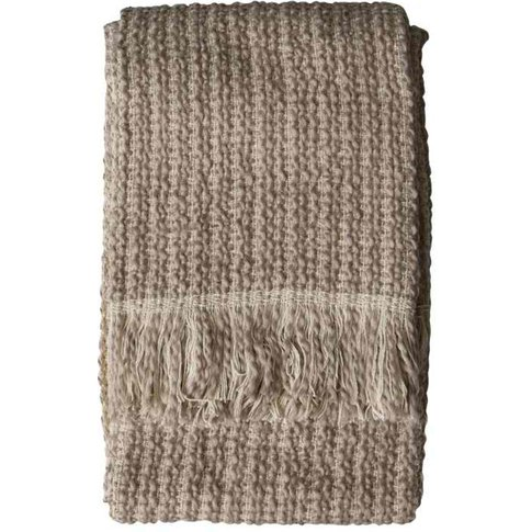 Gallery Direct Tonal Woven Throw In Natural