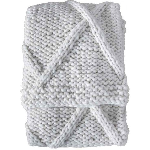 Gallery Direct Diamond Cable Knit Throw