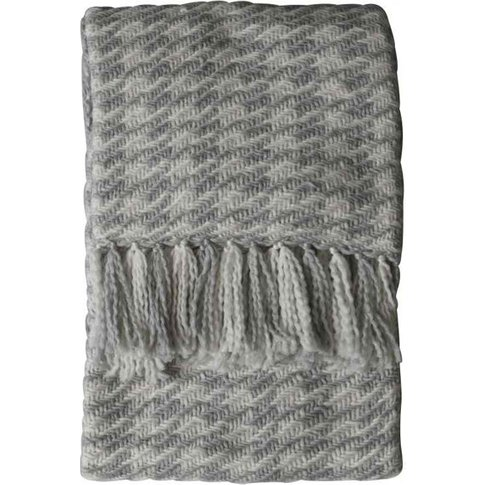 Gallery Direct Houndstooth Woven Throw In Grey Cream