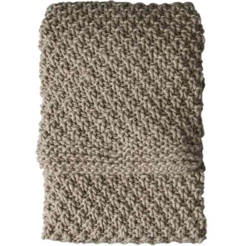 Gallery Direct Moss Chunky Knitted Throw In Natural