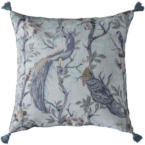 Gallery Direct Peacock Tassel Cushion