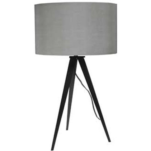 Zuiver Tripod Table Lamp Grey - Metal Base / Black/G...