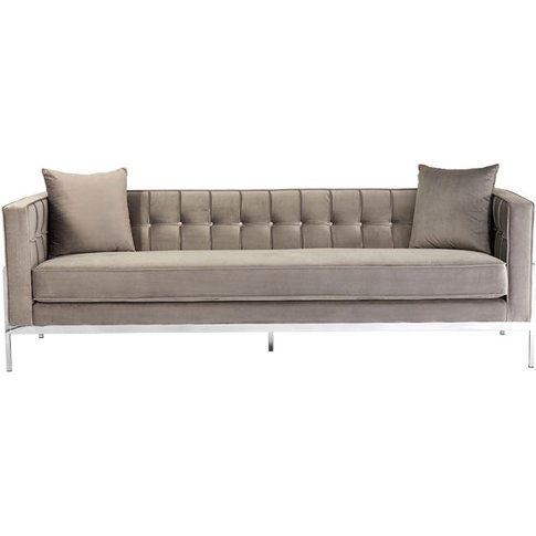 Liv By Olivia's Sofa Rachel Grey 3 Seat / Grey