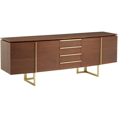 Liv By Olivia's Sideboard Vera 4 Drawer Brown