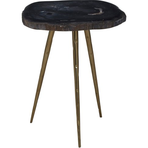 Liv By Olivia's Side Table Riley Dark Brown