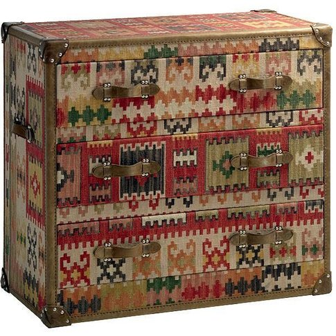 Andrew Martin Kilim Chest of Drawers