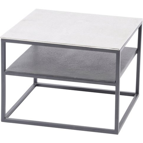 Libra Elements Aluminium And Iron Side Table With Shelf