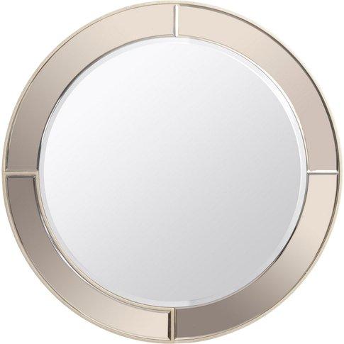 Libra Claridge Ecliptic Brown Lustre Wall Mirror