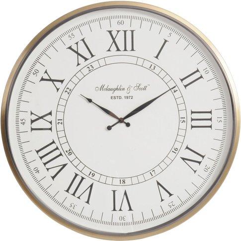 Libra Lexington Brass Wall Clock