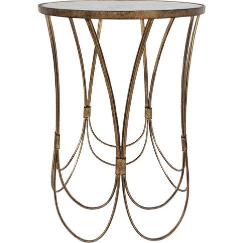 Libra Deco Champagne Side Table