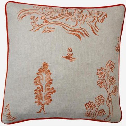 Andrew Martin Friendly Folk Melon Orange Cushion