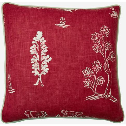 Andrew Martin Friendly Folk Huntsman Red Cushion