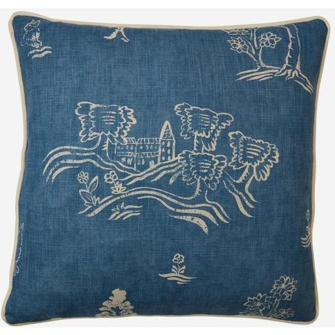Andrew Martin Friendly Folk Happy Blue Cushion