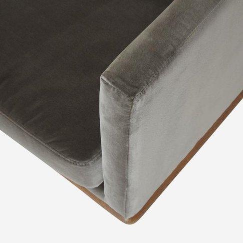 Andrew Martin Westwood Sofa In Concrete Velvet / Yes