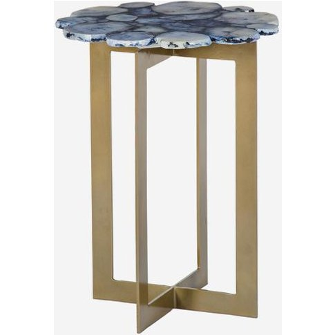 Andrew Martin Rosalie Side Table In Cobalt