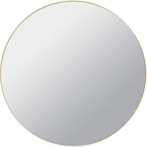Libra Wall Mirror With Slim Metal Frame / Black / Small