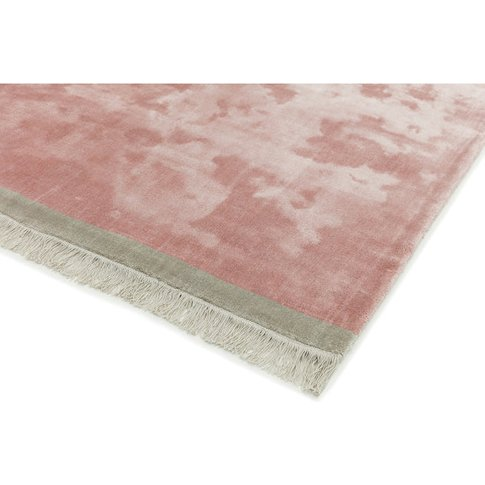 Asiatic Carpets Elgin Hand Woven Rug Pink/ Silver Bo...