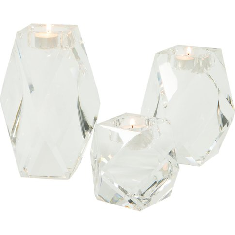 Liang & Eimil Crystal Glass Tealight Holder - Set Of 3