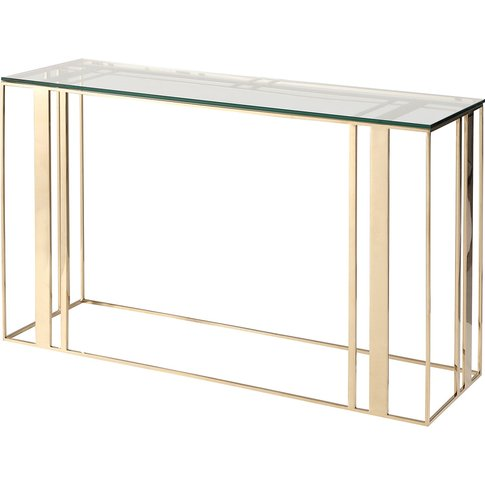 Liang & Eimil Lafayette Console Table Polished Brass