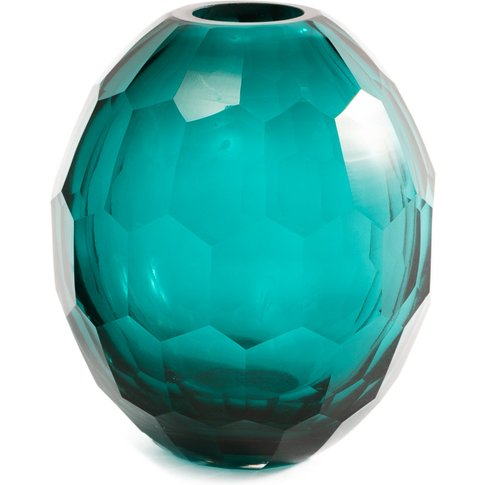 Liang & Eimil Glass Vase Teal - Small