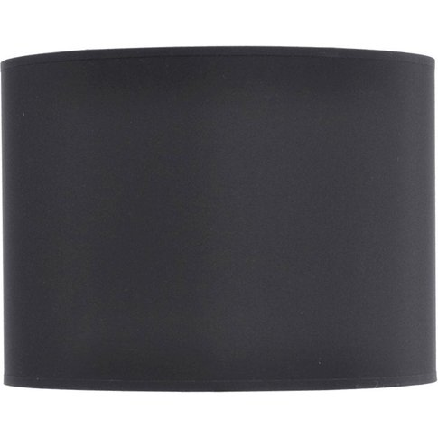 """Libra Black And Silver Lined Drum 16"""" Lampshade"""