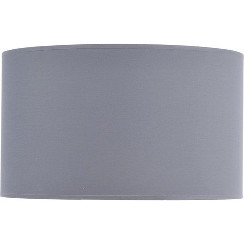 """Libra Grey And Silver Lined Drum 20"""" Lampshade"""