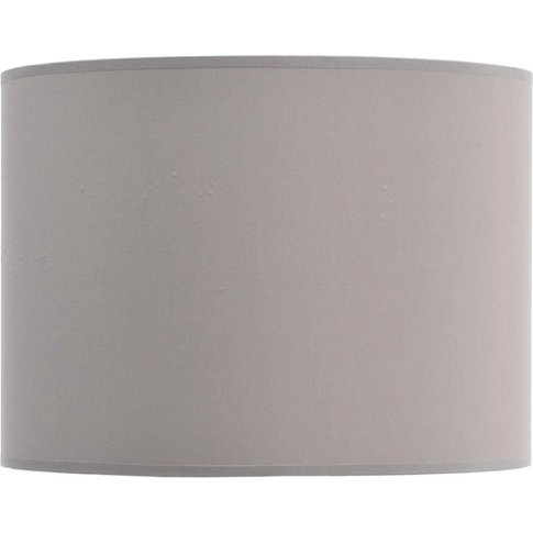 """Libra Taupe And Champagne Lined Drum 16"""" Lampshade"""