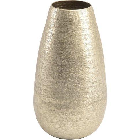 Libra Amaya Champagne Textured Aluminium Small Vase