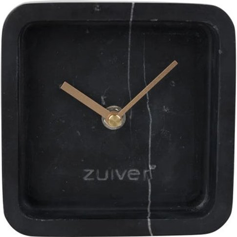 Zuiver Clock Luxury Time Marble Black