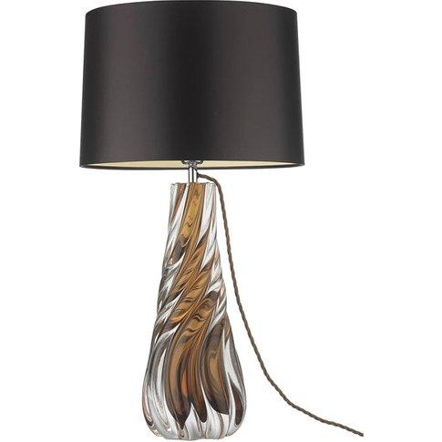 Heathfield & Co Naiad Amber Table Lamp