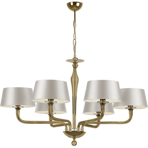 Heathfield & Co Czarina 6 Arm Gold Chandelier