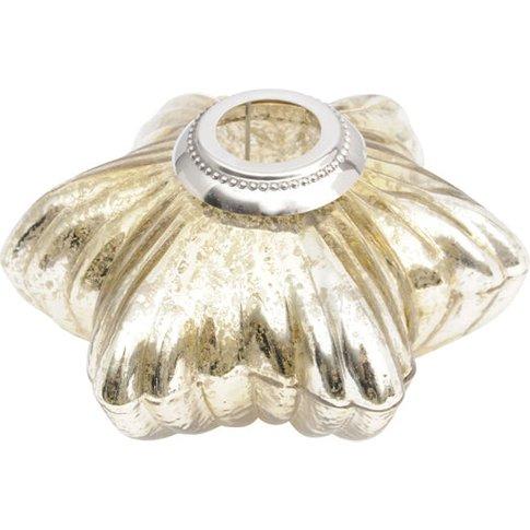 Libra Antique Gold Glass Star Votive Holder With Met...