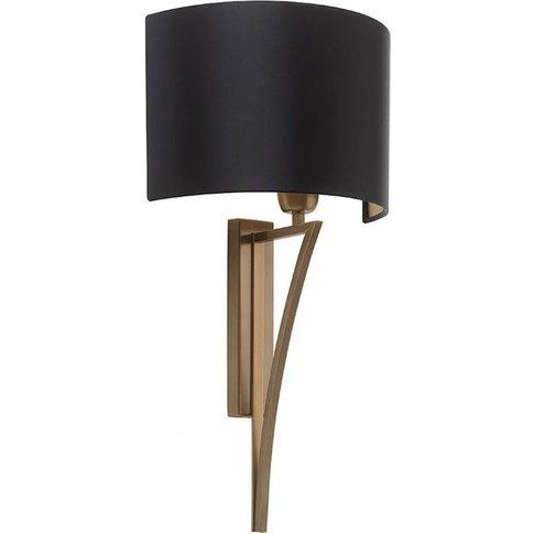 Heathfield & Co Yves Antique Brass Wall Light