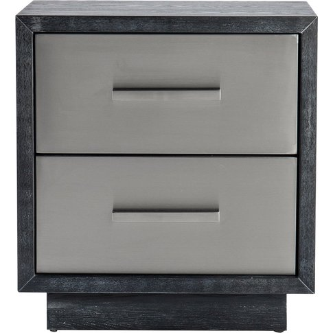 Liang & Eimil Camden Bedside Table Brushed Stainless...