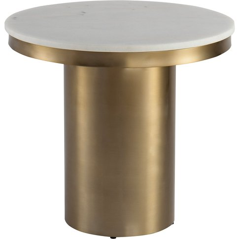 Liang & Eimil Camden Round Side Table Brushed Brass