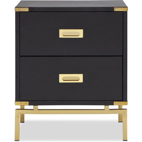 Liang & Eimil Genoa Side Table 2d Polished Brass Bla...