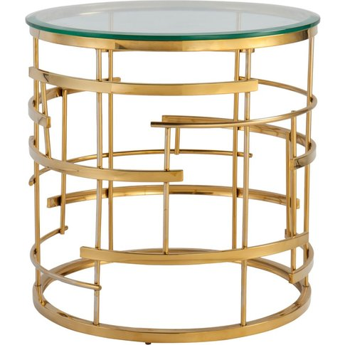 Liang & Eimil Viena Side Table Polished Brass