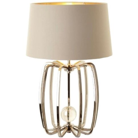 RV Astley Cage Lamp in Nickel Finish With Shade Small