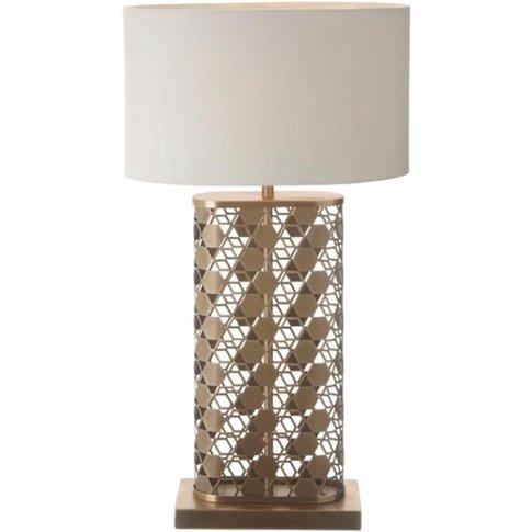 Rv Astley Fairfield Antique Brass Finish Table Lamp