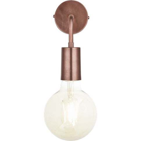 Industville Sleek Edison Wall Light - Copper