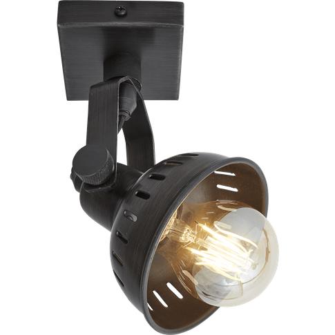 Industville Swivel Spotlight Wall Light - Single - P...