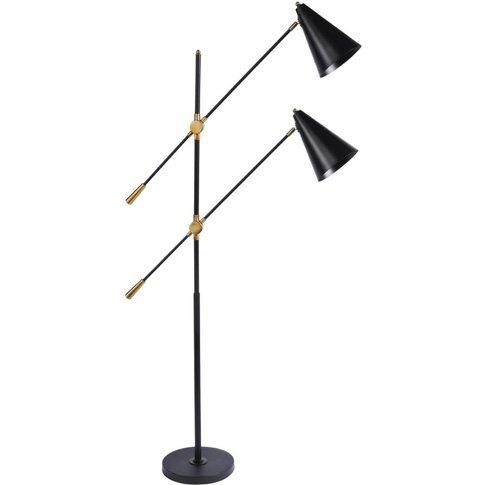 Libra Mercer Twin Head Floor Lamp