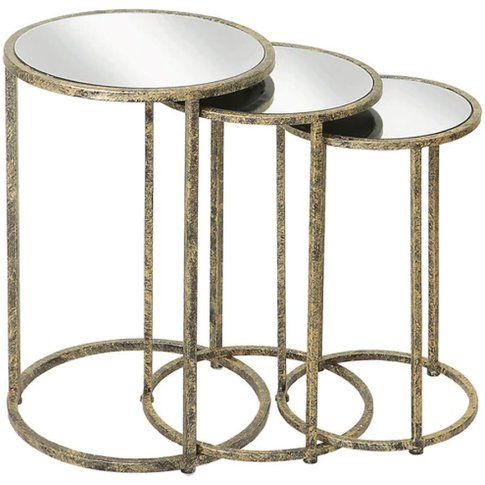 Mindy Brownes Mirror Top Nest Of Tables - Set Of 3