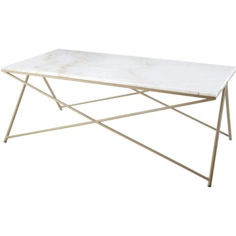 RV Astley | Niall, gold finish & marble top coffee t...