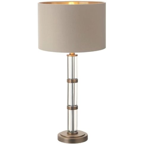 Rv Astley Avebury, Antique Brass Finish, Clear Crystal Table Lamp