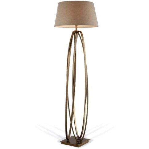 Rv Astley Brisa Antique Brass Floor Lamp