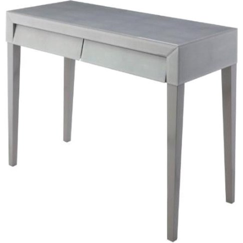 Rv Astley Colby Soft Grey Shagreen Console Table