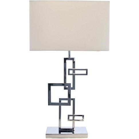 Rv Astley Deandre Squares Nickel Lamp & Shade