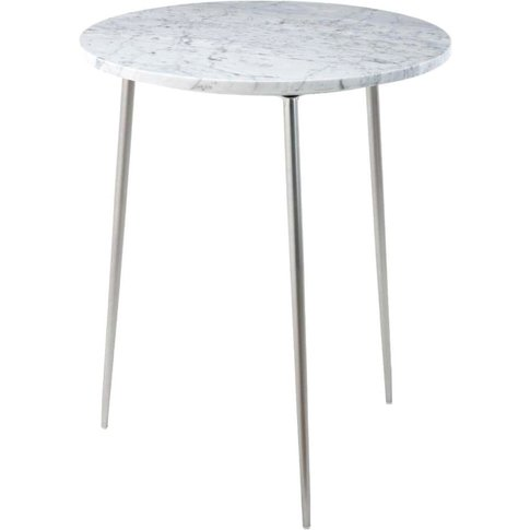 Rv Astley Dervla Nickel & Marble Side Table